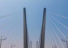Fragment of a modern bridge. Stock Image