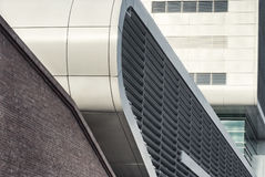 Fragment of a modern building. Contemporary architecture in Hamburg Royalty Free Stock Photo