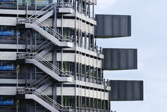 Fragment of a modern building. Modern architecture design Royalty Free Stock Photo
