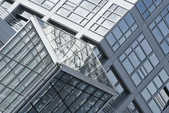 Fragment of a modern building. Modern architecture design Stock Photo