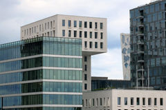 Fragment of modern buildings in Oslo, capital of Norway Stock Images