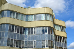 Fragment of modern business center Stock Photo