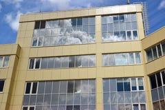 Fragment of modern business center Stock Photos