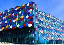 Fragment of modern colourful architecture . Stock Image