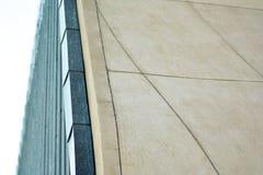 Fragment of a modern glass building. Modern architecture detai. modern building Stock Photos