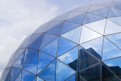 Fragment of modern glass building Stock Photos