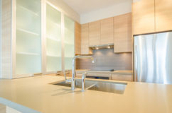 Fragment of modern kitchen. In luxury house Royalty Free Stock Photography