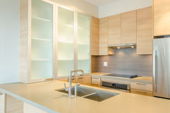 Fragment of modern kitchen. In luxury house Royalty Free Stock Photos