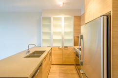 Fragment of modern kitchen. In luxury house Stock Photography