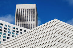 Fragment of modern office building skyscrapers Royalty Free Stock Photo