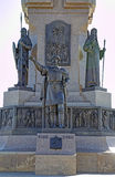 Fragment of Monument to the 1000 anniversary of Yaroslavl Royalty Free Stock Photos