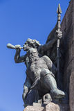 Fragment of the Monument to the Battle of Grunwald Royalty Free Stock Photography