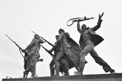 Fragment Monument to the Heroic Defenders of Leningrad. Stock Photography
