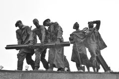 Fragment Monument to the Heroic Defenders of Leningrad. Stock Photo