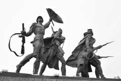 Fragment Monument to the Heroic Defenders of Leningrad. ST.PETERSBURG, RUSSIA - 15 JUNE 2016: Fragment of Monument to the Heroic Defenders of Leningrad - a Royalty Free Stock Photo