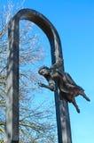 Fragment of monument to Mark Chagall, Vitebsk, Belarus Stock Images