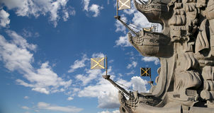 Fragment monument to Peter the Great, Moscow Stock Images