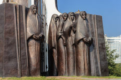 Fragment of Monument to soldiers-Afghans in Minsk Royalty Free Stock Images