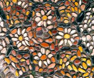 Fragment mosaic. Colorful pattern, close up background. Royalty Free Stock Images