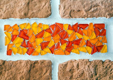 Fragment of a mosaic of glass Stock Photo