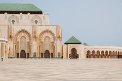 A fragment of the mosque Hassan II in Casablanca Royalty Free Stock Images
