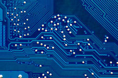 Fragment of motherboard. Fragment of computer blue motherboard royalty free stock photography