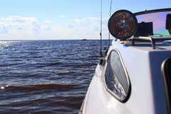 Fragment of a motor boat Stock Image