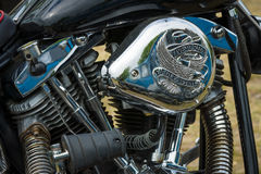 Fragment of a motorcycle Harley-Davidson Royalty Free Stock Photo
