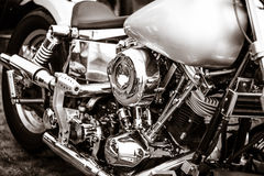 Fragment of a motorcycle Harley-Davidson Stock Image