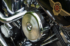 Fragment of a motorcycle Harley-Davidson Stock Images