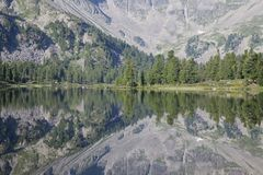 Fragment of a mountain lake Stock Images