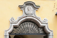 Fragment of Mozart house Stock Photos