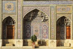 Fragment of a multi-colored Mosque Nasir al Mulk also known as P royalty free stock photo