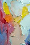 Fragment. Multicolored texture painting. Abstract art background. oil on canvas. Rough brushstrokes of paint. Closeup of a paintin. Colorful abstract painting stock images