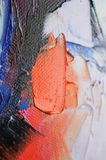 Fragment. Multicolored texture painting. Abstract art background. oil on canvas. Rough brushstrokes of paint. Closeup of a paintin. Colorful abstract painting vector illustration