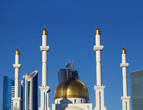 Fragment of a Muslim mosque in the modern city. Kazakhstan. Asta Stock Photography
