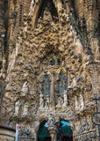 Fragment of Nativity facade of Sagrada Familia. Royalty Free Stock Images