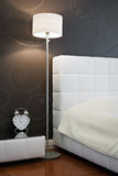 Fragment of a new modern bedroom Royalty Free Stock Images