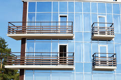 Fragment of new modern building Royalty Free Stock Photos