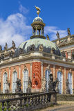 Fragment of a new palace royalty free stock photography