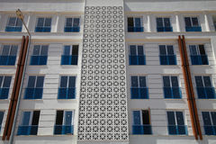 A fragment of newly built multi-storey apartment building without inhabitant Royalty Free Stock Image