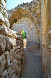 Ancient ruins. Fragment of the Nimrod Fortress,  a medieval fortress in the northern Israel Royalty Free Stock Image