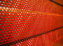 Fragment of noise protection panel used to reduce noise.  royalty free stock photo