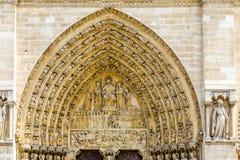 Fragment of Notre-Dame de Paris Royalty Free Stock Images