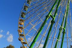 Observation wheel in an amusement park royalty free stock images