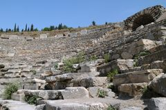 Fragment of Odeon of Ephesus Stock Photo