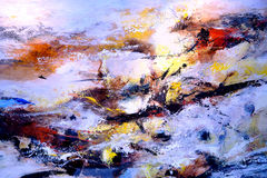 Fragment Of Abstract Colour Oil Painting Royalty Free Stock Images