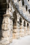 Fragment Of Ancient Roman Amphitheatre Arena Stock Photo