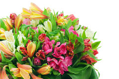 Fragment Of Colorful Flower Bouquet Royalty Free Stock Photo