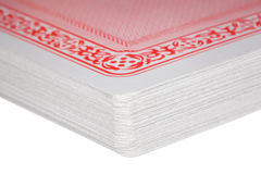 Fragment Of Exactly Combined Deck Of Playing Cards Royalty Free Stock Photos